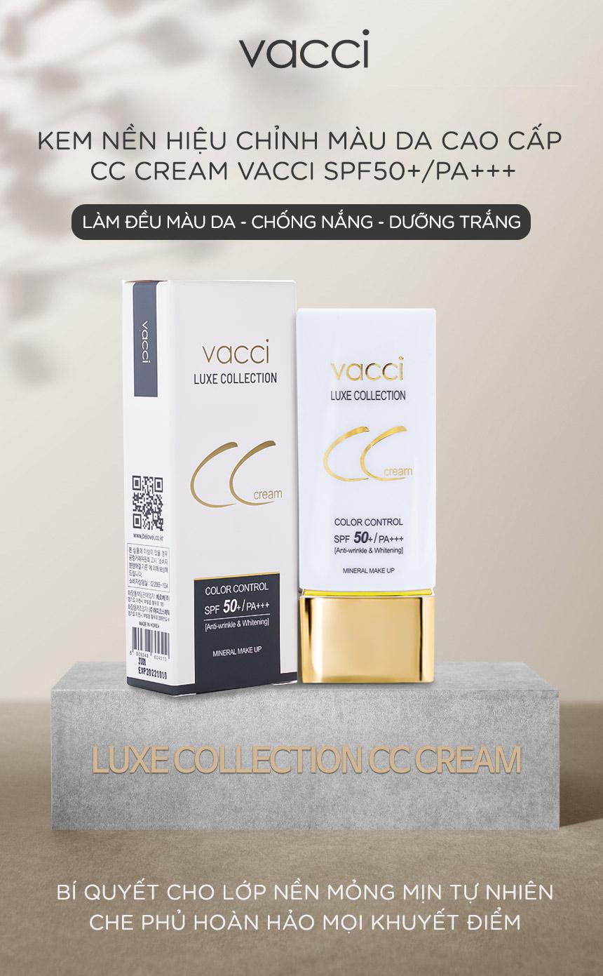 Kem nền hiệu chỉnh màu da Vacci CC Cream SPF50 PA+++