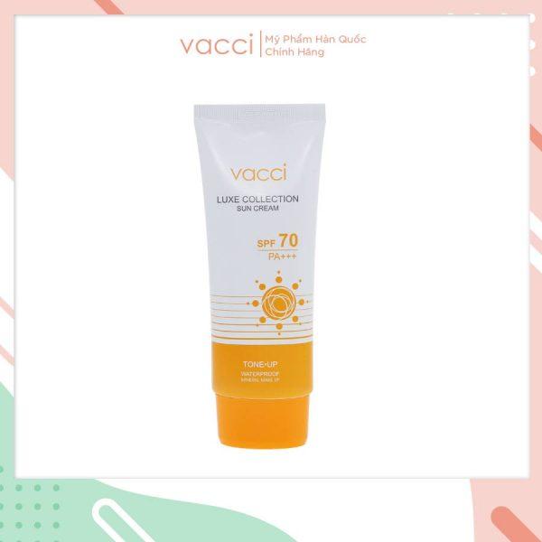 Kem chống nắng nâng tông da Vacci Sun Cream